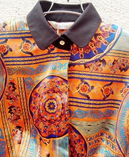 ZAMME Womens Slim OL Bodysuit Tops Blouse Button Down Classic Shirts Silk-like