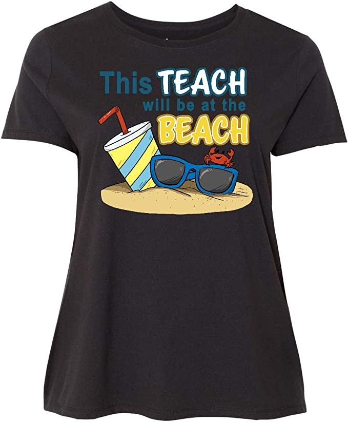 inktastic This Teach Will Be at The Beach-Drink Sunglasses and Baby T-Shirt