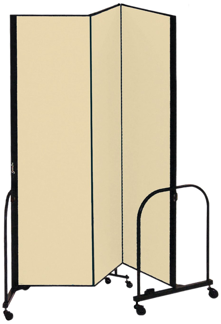 Screenflex Commercial Portable Room Divider (CFSL683-DW) 6 Feet 8 Inches High by 5 Feet 9 Inches Long, Designer Desert Fabric