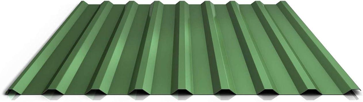 Chapa trapezoidal, chapa de perfil | Chapa de techo | Perfil PS20/1100tra | material Acero (grosor 0,50 mm, revestimiento 25 µm, aguja de color verde: Amazon.es: Bricolaje y herramientas