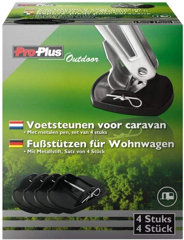 Proplus 361528 4 X Stützplatten Mit Metallstift Für Kurbelstützen Wohnwagen Auto