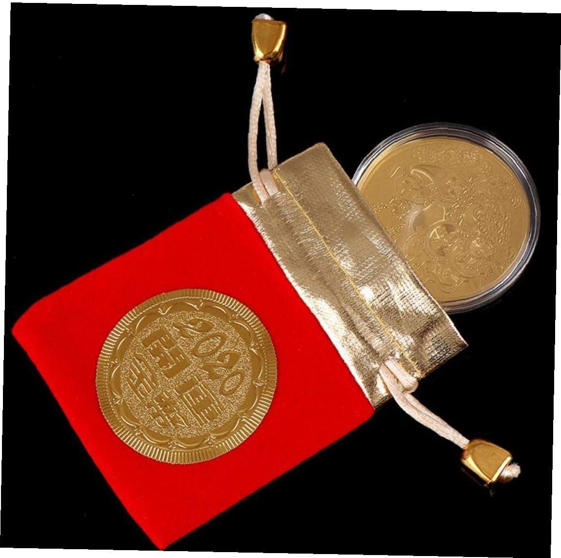 2020 Moneda De La Suerte Rata del Ratón Moneda Conmemorativa Año Nuevo Regalo del Año De La Rata Colección Monedas Chapados En Oro