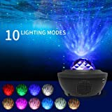 Star Light Projector Led Night Light, 2 in 1 Starry Light & Ocean Wave Projector with Remote Control 10 Colors Changing…