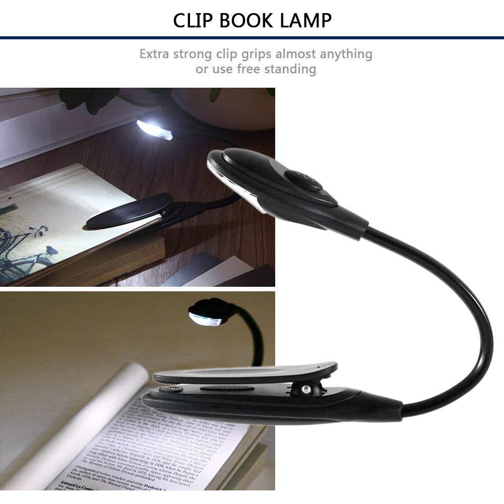 Yaoaomitn Mini Lampada Flessibile Flessibile a Clip per Libri a LED per Libri