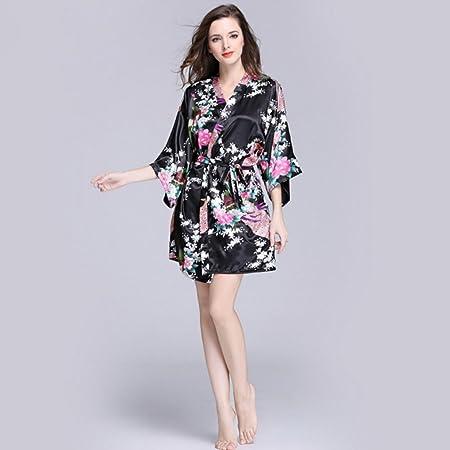 Amazon.com   NEIYI Women s Summer Silk Single Nightgown Tracksuit Peacock  Gown Sleeve Woven Silk Pajamas Bathrobes CUIYAN   Sports   Outdoors a0106c449