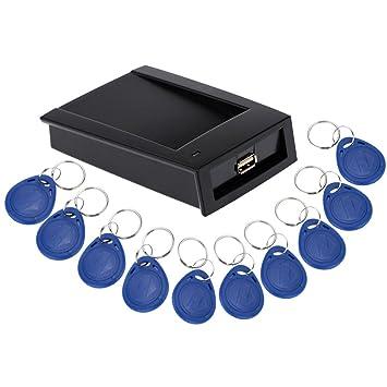 KKmoon RFID Smart Lector de Tarjeta Proximidad EM ID 125KHz ...