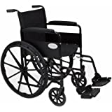 "Stylish Black Sport Self - Propelled Lightweight Folding Wheelchair - 18""/20"" Seat Width (Fast Delivery!) (AMW0046BF)"