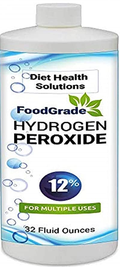 Hydrogen Peroxide Food Grade 12% ~ 32oz All-Surface Multi-Purpose ~ Diet Health Solutions