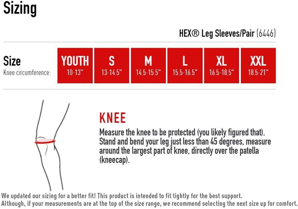 red Media de pierna con Hex Rojo McDavid 6446 M