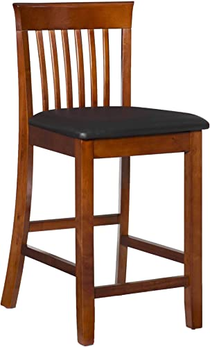 Linon Triena Dark Cherry 24 inch Counter Stool Renewed