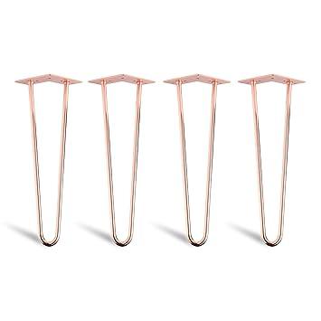 4 x Aguja de pelo Hairpin Legs – Mesa pies de patas estructura ...
