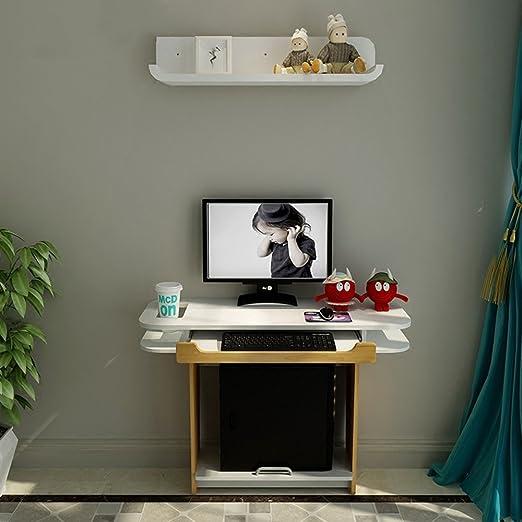 Duo Mesa de Ordenador Mesa de Escritorio de Pared con estantes de ...