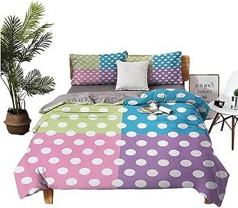 Amazon.com: Polka Dots Sheet Set-3 Piece Set, Bedding Set ...