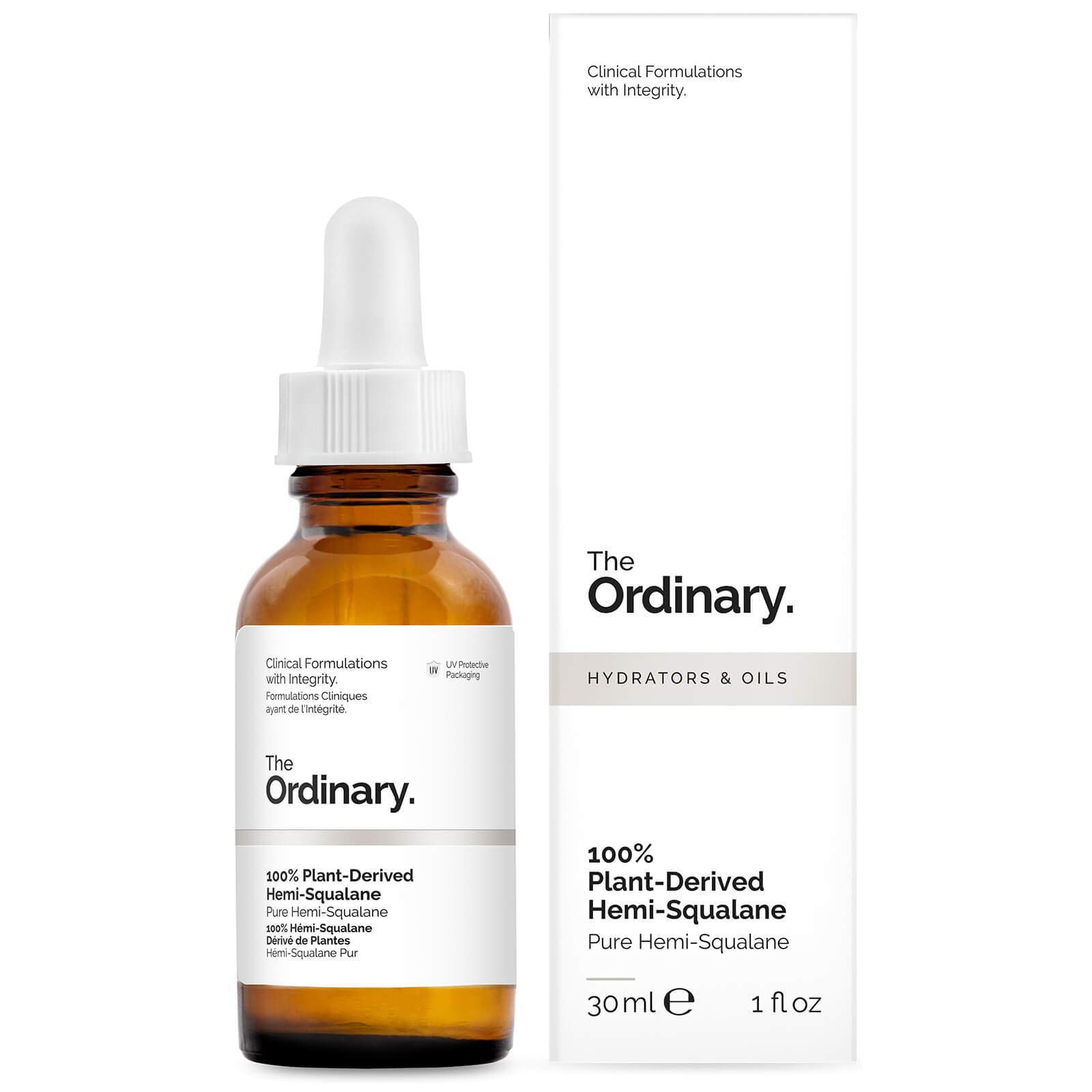 The Ordinary Skincare 100% Plant-Derived Hemi-Squalane 30ml
