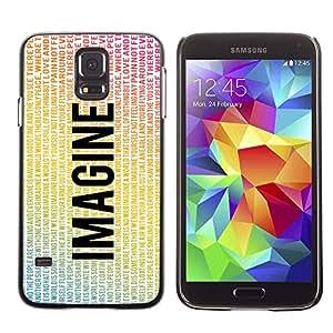 Stuss Case / Funda Carcasa protectora - Imagine Flying Eagle Peace Quote Love - Samsung Galaxy S5 SM-G900