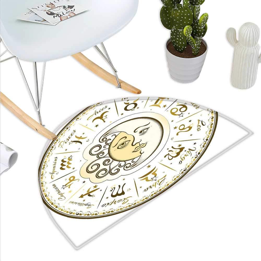 Zodiac Virgo - Felpudo semicircular para Mujer, diseño de alas de ...