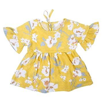 Vestido De Flores Para Bebé Vestido Estampado Para Niños