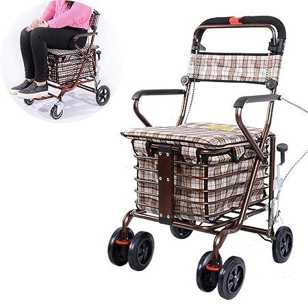 Carritos de compras portátiles plegables para ancianos ...