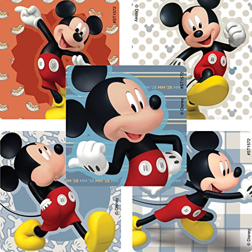 SmileMakers Mickey Mouse Favorite Poses Stickers - Prizes 100 Per Pack -
