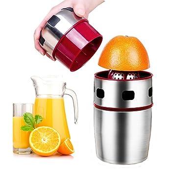 Manual de acero inoxidable exprimidor, portátil tapa rotación exprimidor limón exprimidor exprimidor para naranjas, limones, Tangerines y uvas: Amazon.es: ...