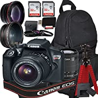 Canon EOS Rebel T6 Digital SLR Camera with EF-S 18-55mm IS II Kit + Accessory Bundle
