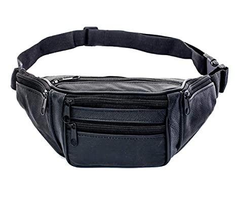 0490e9f34ab9 Amazon.com : XDH-RTS Men Leather Sports Bag Runner Waist Bum Bag ...