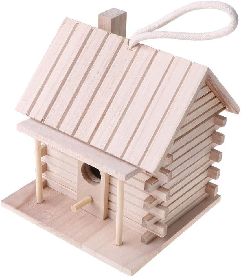 ruiruiNIE Wooden Hanging Bird House Warm Bird Breeding Nesting Box Outdoor Nest Hut Garden Decorations for Wild Birds