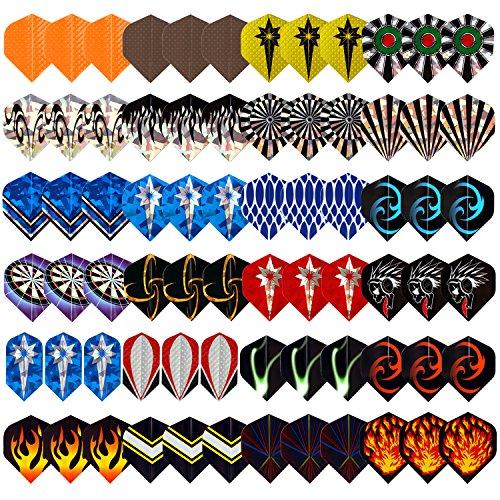 L.E.D STEP Darts 2d and 3D Aluminium Darts Flights Sets Assorted Wholesale 24 Sets (72 Pieces)