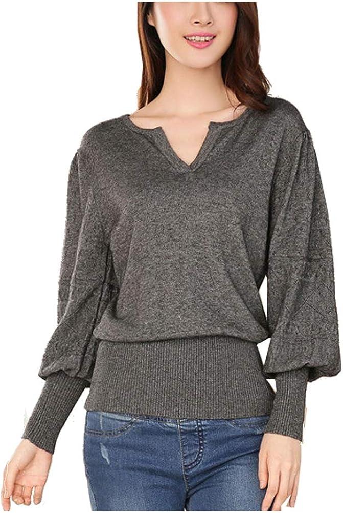 HFSX Women Winter Fleece Warm Pullovers Sweater Tops