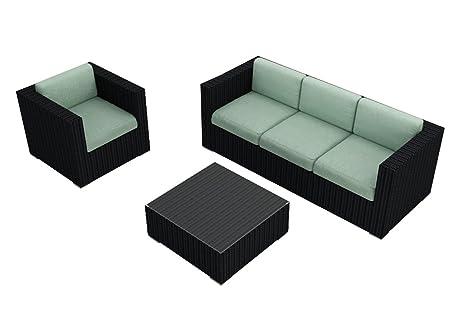 Amazon.com: Harmonia Vida Urbana sofá (3 piezas, lona Spa ...