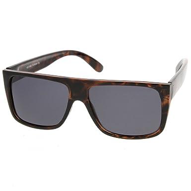 KISS ® Sonnenbrille-VINTAGE-Stil Flat Top Herren Damen Unisex: JACOBS super coole Sonnenbrille - SCHWARZ lPjw70nr9N