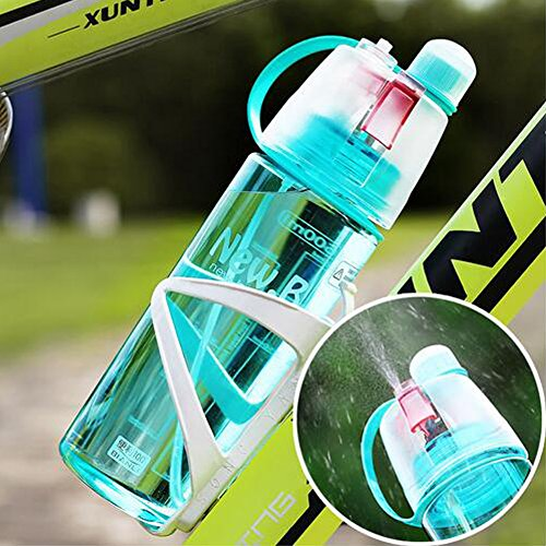 Yapping 400ML Outdoor Sports Plastic Cup Spray Water Bottle Summer Students Personality Kettle (400ML-Pink)