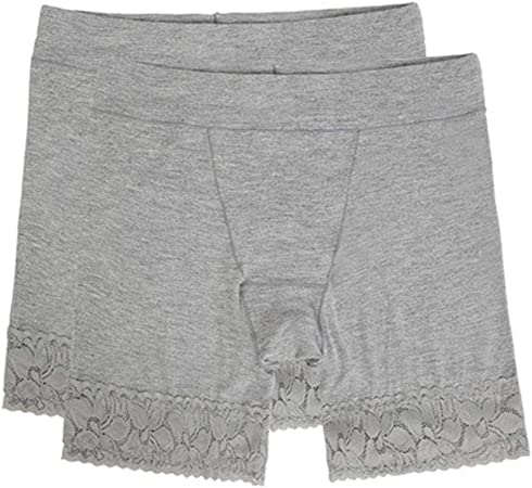 ZFMLXFMM Fajas para piernas,Shorts de algodón Anti Rozaduras para Mujeres, Calzoncillos de Pierna Larga para Damas, Calzoncillos Tipo Boxer Suaves Ropa Interior 2 Paquetes @ Gray_Two_XXL: Amazon.es: Hogar