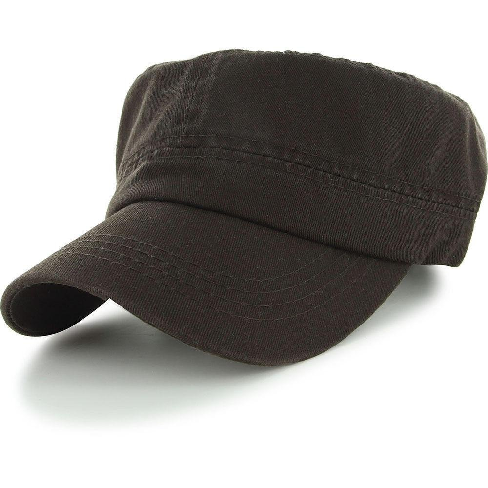 Brown_(US Seller)Military Style Caps Hat Unizex Bucket by Easy-W (Image #1)