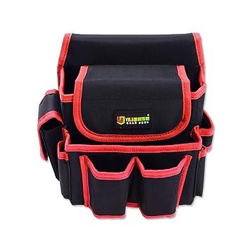 AOLVO Bolsa de herramientas eléctricas de alta resistencia, técnica y electricista, bolsa para cinturón de herramientas con múltiples bolsillos, hecha ...