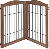 unipaws 360 Configurable Home Gate Extension Kit, 2 Panels, Walnut