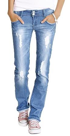 947af0d2c04d Bestyledberlin Damen Jeans Hosen, Hüftjeans zerrissen j28x 42 XL ...