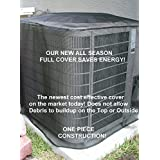 Air Conditioner Cover - Summer Full Cover 28x28x28 Black