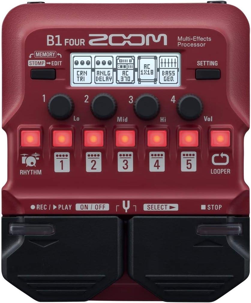 Zoom B1 FOUR - Pedal multiefectos para bajo