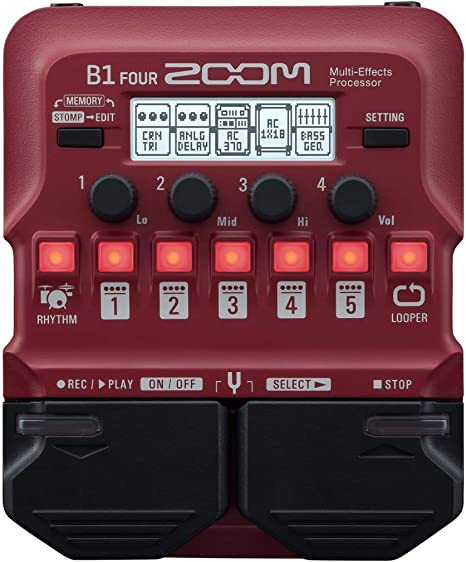 Zoom B1 FOUR - Pedal multiefectos para bajo: Amazon.es ...