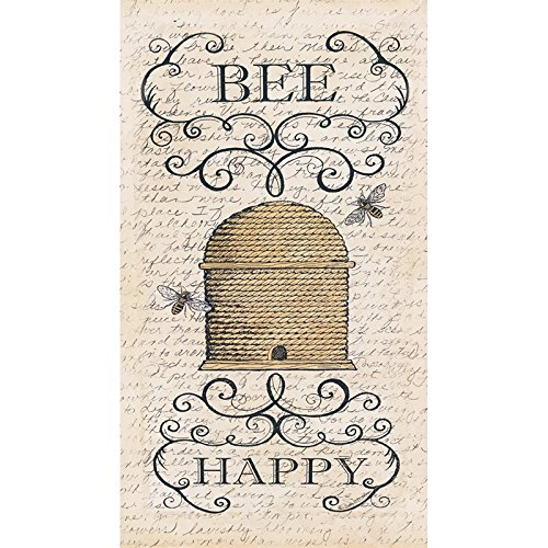 Cypress Home Bee Happy Embossed Paper Guest Towel, 20 (Embossed Guest Towels)