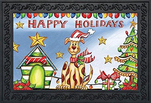 (Briarwood Lane Happy Holidays Dog Doormat Christmas Humor Indoor Outdoor 18
