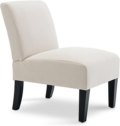 BELLEZE Classic Single Contemporary Slipper Accent Chair Upholstered Living Room Bedrooom