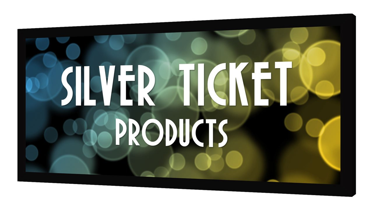 """STR-235125-WAB Silver Ticket 2.35:1 4K Ultra HD Ready Cinema Format (6 Piece Fixed Frame) Projector Screen (2.35:1, 125"""", Woven Acoustic Material)"""