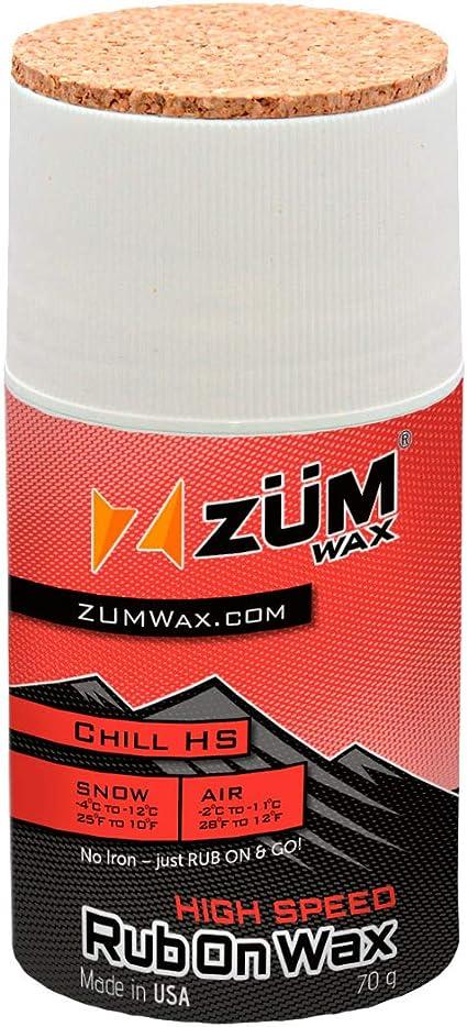 ZUMWax RUB ON WAX Ski//Snowboard INCREDIBLY FAST!!! 70 gram CHILL Temperature