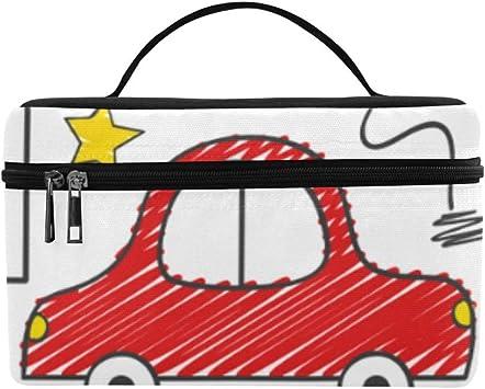 Coloreado Dibujo Infantil Amor de los niños Pintura Gran Capacidad Tamaño Dama Cosmético Maquillaje Bolsa Tocador Estuche para niñas Las Mujeres viajan con Cremallera y manija de Sola Capa: Amazon.es: Equipaje