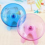 VIPASNAM-Flying saucer exercise wheel hamster gerbil cage toy 4.9'' Small spinner for pet(random color)