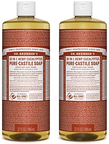 Dr. Bronner's Pure-Castile Liquid Soap Value Pack - Hemp Eucalyptus 32oz. (2 Pack)