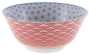Tokyo Design Studio Starwave Bowl - Grey/Red at Amara