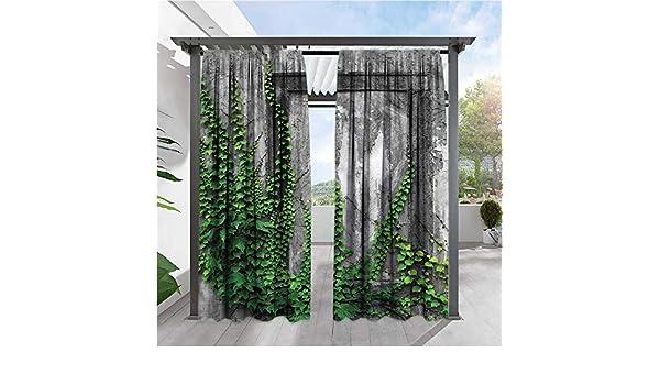 Marilds - Cortinas de balcón Estilo Griego con diseño de estatuas en el Cielo oscureciendo la habitación, Reduce el Ruido: Amazon.es: Jardín